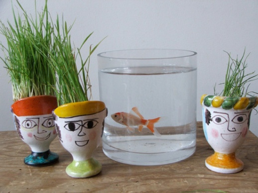 goldfish sabzeh egg holder pretty Norooz still life by Fig & Quince (Persian food blog)