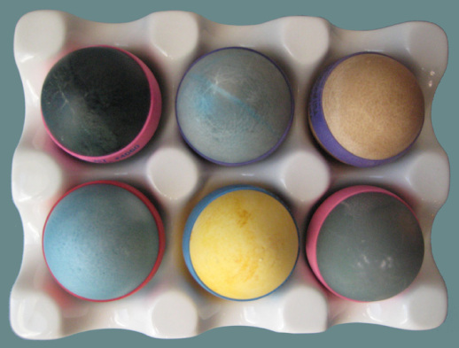 Eggs colored with homemade natural dye Persian food blog