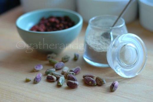 Persianized Apple Crumble Rosewater Cream cardamom pistachio barberries recipe photos