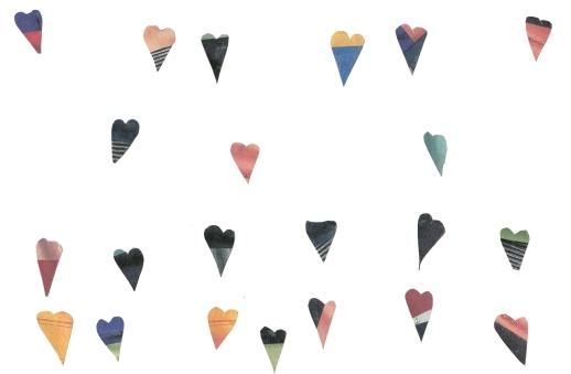 Heart Hearts Hearts | Cutout Collage by Farideh