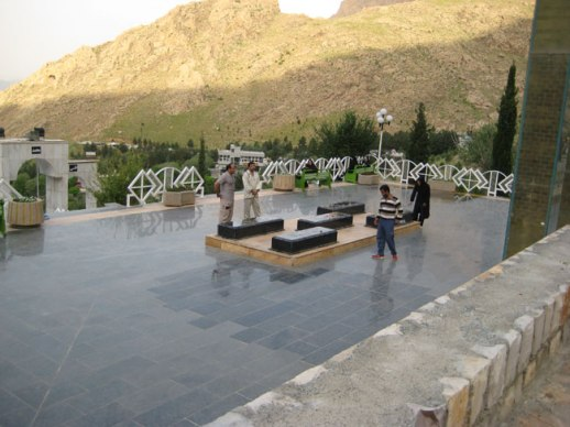 Grave of unknown soldiers memorial in taghbostan mountain Kermanshah, Iran