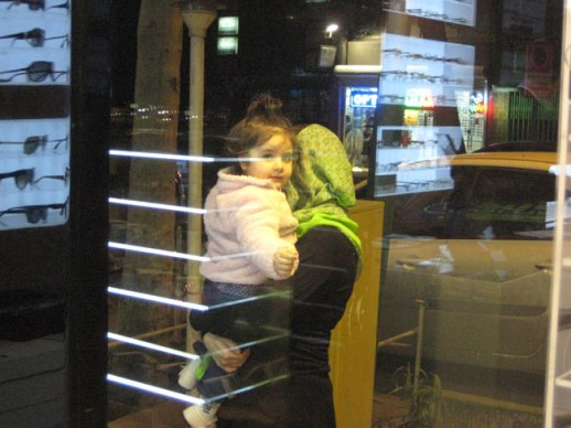 little Persian girl and mom, tehran, Iran 2014