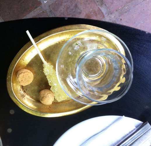 nabat (Persian rock candy) , cookie and Persian tea cup, cafe in Tehran, Iran  FigandQuince.com (Persian Cooking and Culture blog)