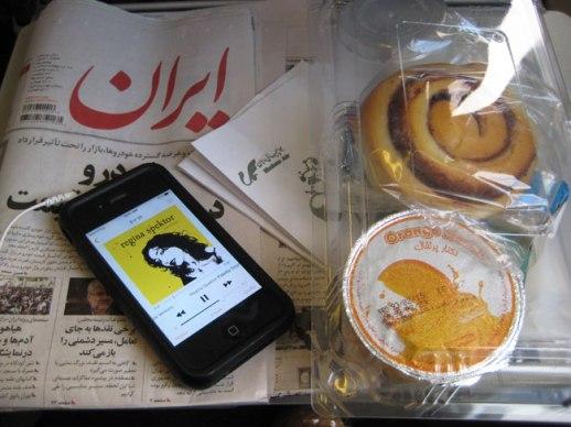 newspaper and airplane food on flight from Tehran to kermanshah, Iran 2014 | Persian food culture blog