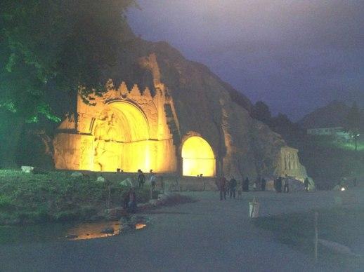 Taghbostan (ancient rock relief) in Kermanshah, Iran
