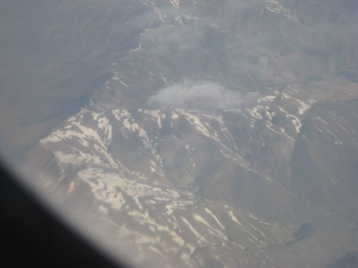 aerial view of mountains in Iran taken on flight from Tehran to Kermanshah, Iran | @FigandQuince (Persain food culture blog)