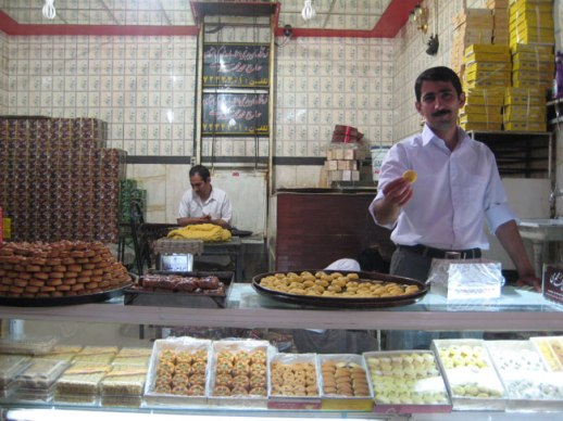 shirini kermanshahi pastry shop in kermanshah bazaar, iran | pix & story Fig and Quince (Persian food culture blog)