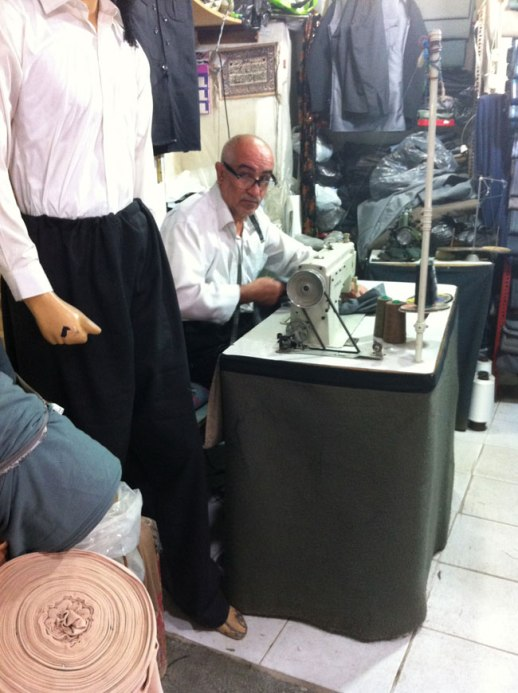 tailor sewing at kermanshah Grand Bazaar, Iran | Fig & Quince (Persian food culture blog) My Epic trip to Iran 2014