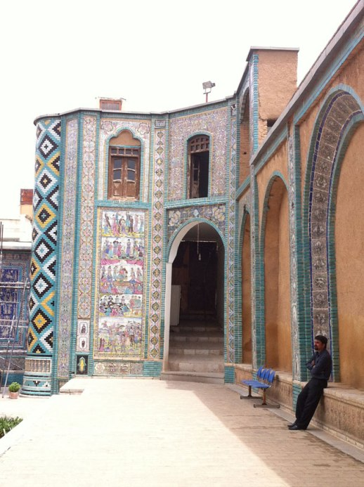 Inner courtyard of Takieh Moaven 'ol Malek, Kermanshah Iran 2014 | @FigandQuince (Pesian food culture blog)