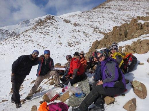 Mountain Climbing Iranian friends in snowy Lavasan Tehran Iran mountains