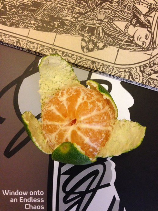 Persian tangerine (narengi) green on the outside, orange on the inside | @figandquince (Persian food culture blog)
